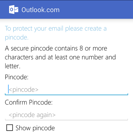 outlook on android
