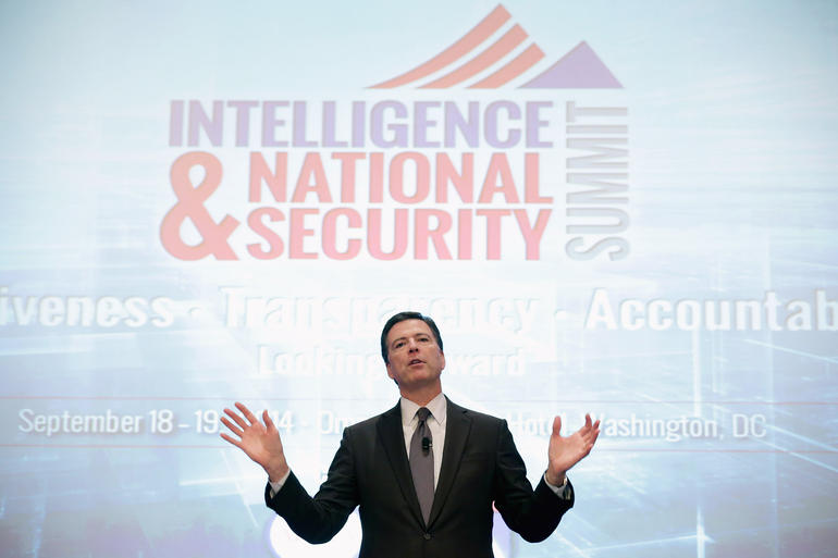 FBI Director James Comey Speaks At Intelligence And National Security Summitt