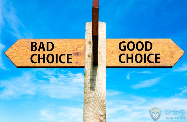 Bad Choice versus Good Choice messages